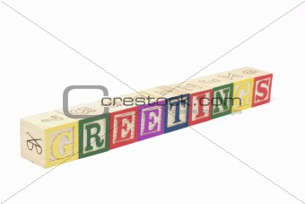 Alphabet Blocks - Greetings