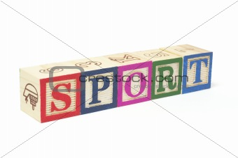 Alphabet Blocks - Sport