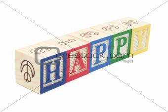 Alphabet Blocks - Happy