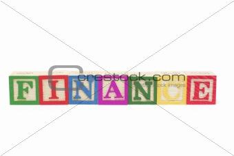 Alphabet Blocks - Finance