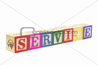 Alphabet Blocks - Service