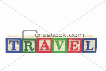 Alphabet Blocks -Travel