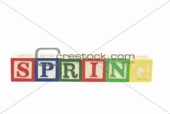 Alphabet Blocks - Spring