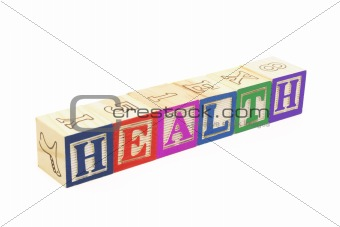 Alphabet Blocks - Health