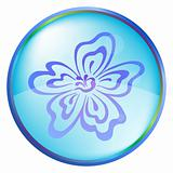 Christmas icon button - flower