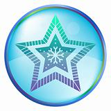 Christmas icon button - star
