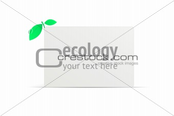 Blank ecology business card