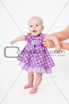baby in a dress