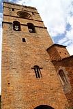 Ainsa medieval romanesque village church Spain