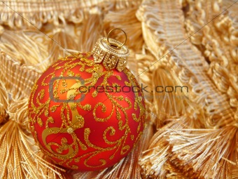 Beautiful red ball Christmas ornament
