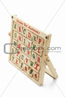 Alphabet Blocks with Wooden Rack