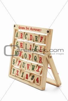 Alphabet Blocks with Wooden Rack