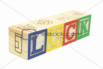 Alphabet Blocks - Luck