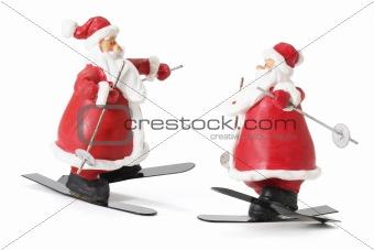 Sking Santa Figures