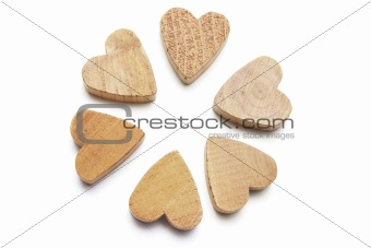 Wooden Heart Symbols
