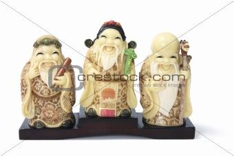 Three Star God Figurines