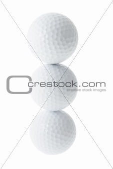 A Stack of Golf Balls