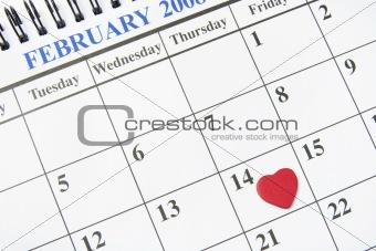 Calendar with Heart Symbol