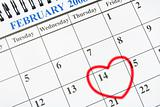 Calendar with Heart Symbol