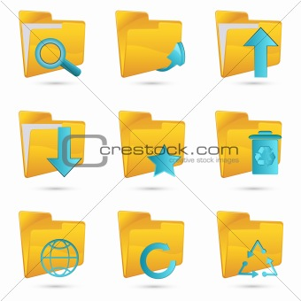 different folders icon