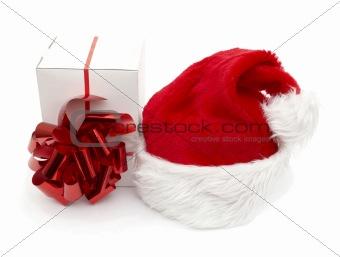 Santa hat and gift