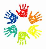 Set of colorful hand