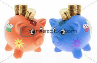 Piggy Banks with Coins