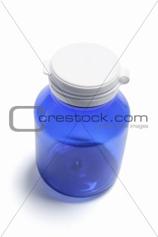 Blue Pill Bottle