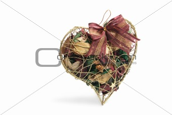 Potpourri in Heart-Shaped Box