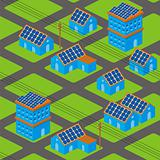 Solar houses pattern