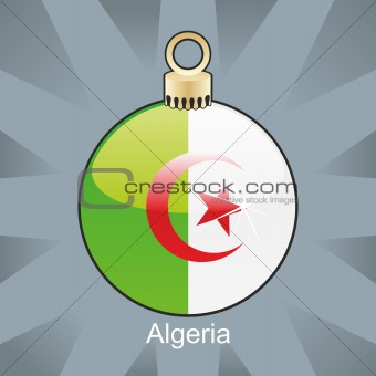 algeria flag in christmas bulb shape