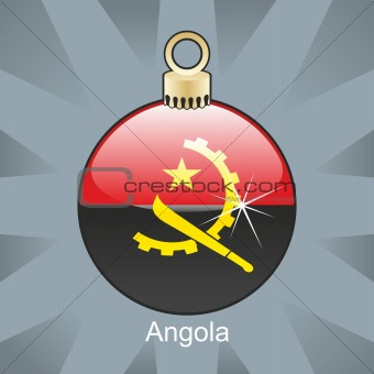 angola flag in christmas bulb shape