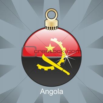 angola flag in christmas bulb shape