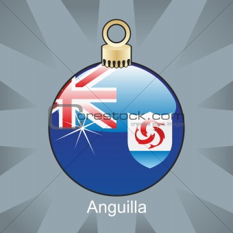 anguilla flag in christmas bulb shape