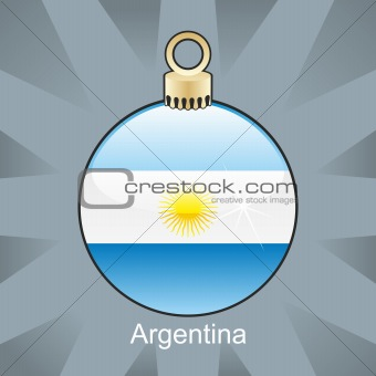 argentina flag in christmas bulb shape