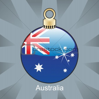 australia flag in christmas bulb shape