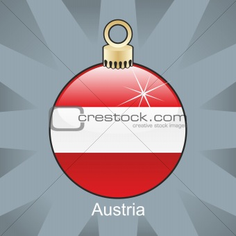 austria flag in christmas bulb shape