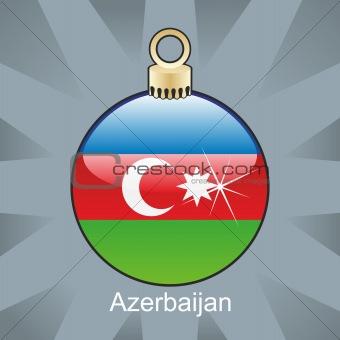 azerbaijan flag in christmas bulb shape