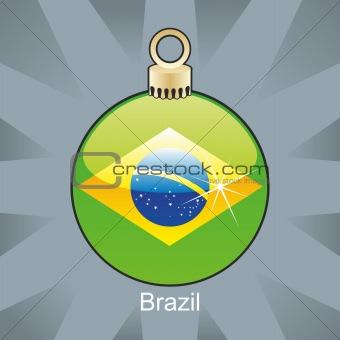 brazil flag in christmas bulb shape
