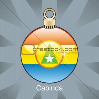 cabinda flag in christmas bulb shape
