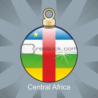 central africa flag in christmas bulb shape