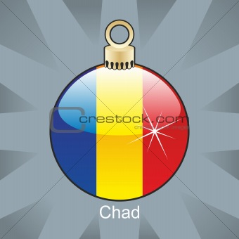 chad flag in christmas bulb shape