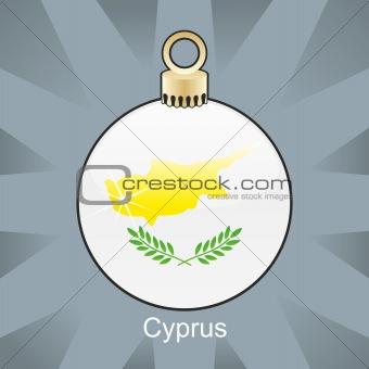 cyprus flag in christmas bulb shape