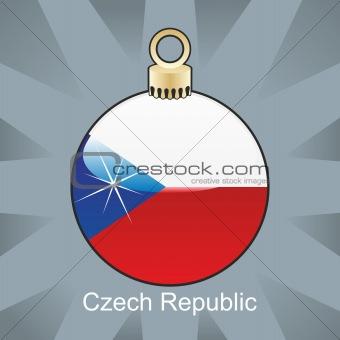 czech republic flag in christmas bulb shape