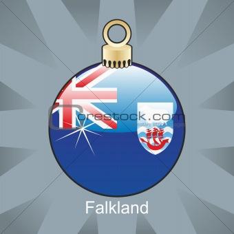 falkland flag in christmas bulb shape