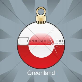 greenland flag in christmas bulb shape
