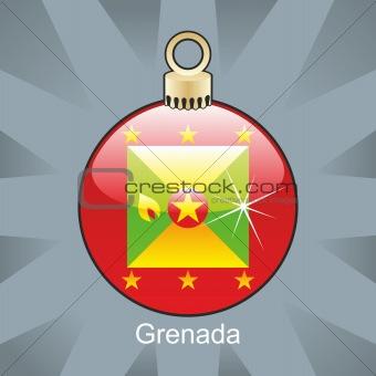 grenada flag in christmas bulb shape