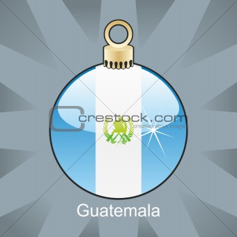 guatemala flag in christmas bulb shape