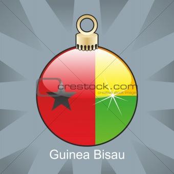 guinea bissau flag in christmas bulb shape