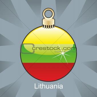 lithuania flag in christmas bulb shape